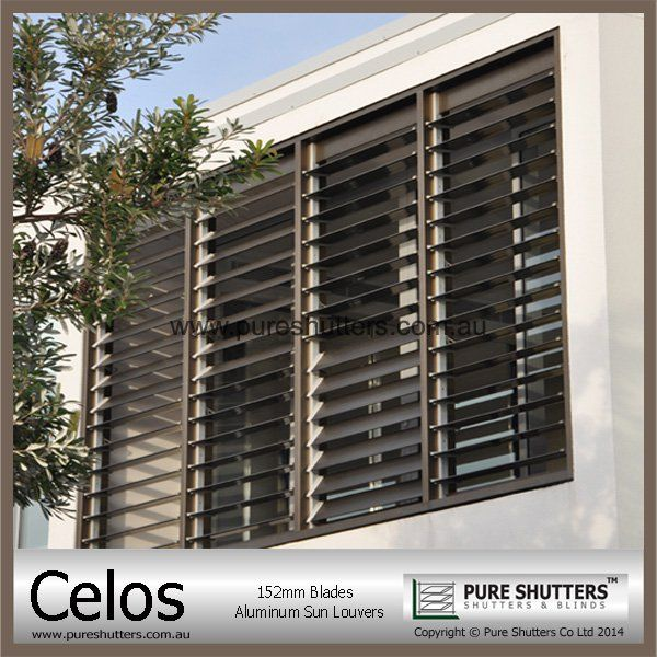 Celos 152mm Aluminum commercial Jalousie window frames