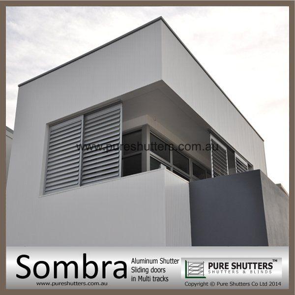 SS016003 Exterior Sliding Aluminium sun louverPURE SHUTTERS